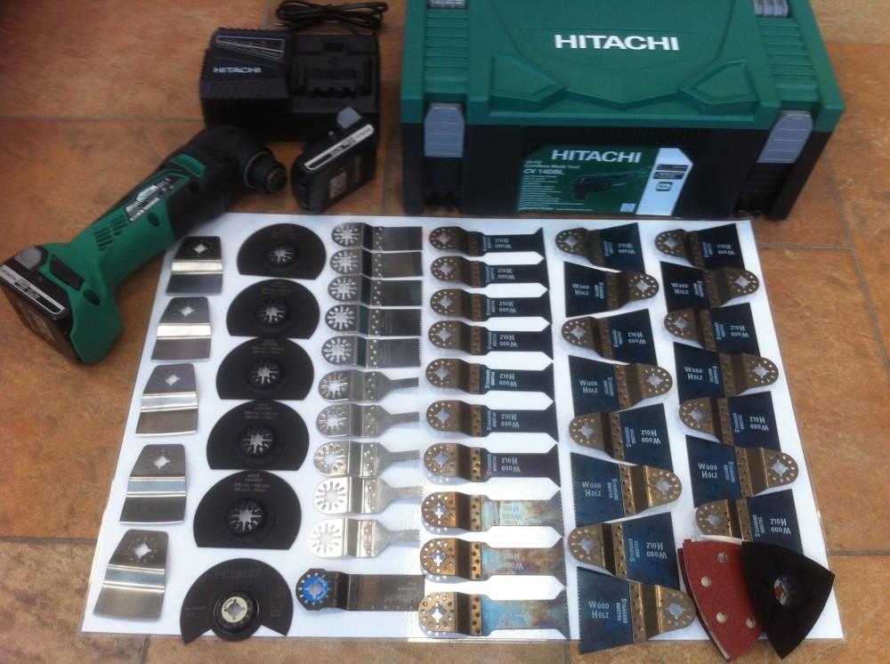 Hitachi accu multitool 14,4V  incl. 45 zagen  Actie 234,- Euro Excl BTW